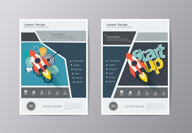 Modelo de panfleto de folheto folheto relatório anual