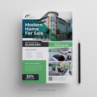 Modelo de panfleto de imóveis