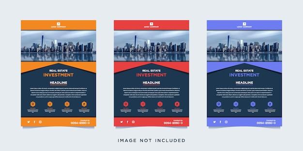 Modelo de panfleto de investimento imobiliário com foto
