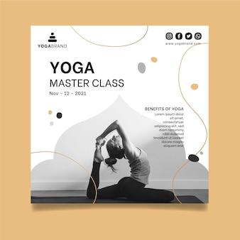 Modelo de panfleto de ioga