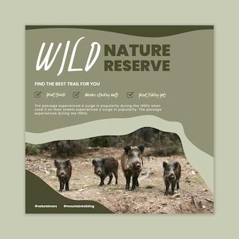 Modelo de panfleto de natureza selvagem