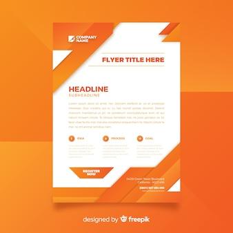 Modelo de panfleto de negócio abstrato com design plano