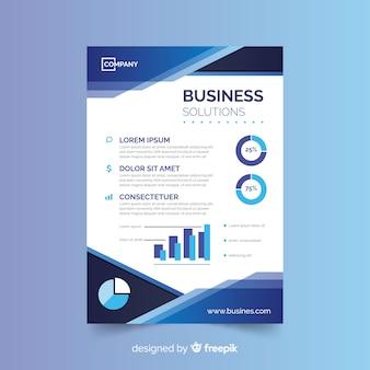 Modelo de panfleto de negócio abstrato