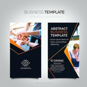 Modelo de panfleto de negócio abstrato.