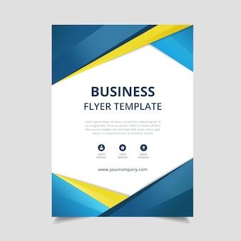 Modelo de panfleto de negócio azul