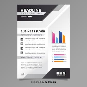 Modelo de panfleto de negócios abstratos coloridos