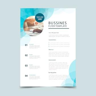 Modelo de panfleto de negócios abstratos com foto