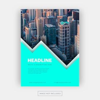Modelo de panfleto de negócios com cores vibrantes