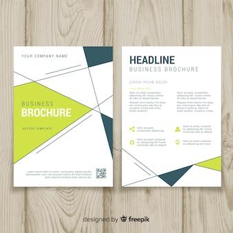 Modelo de panfleto de negócios com desenho geométrico