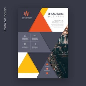 Modelo de panfleto de negócios com design abstrato
