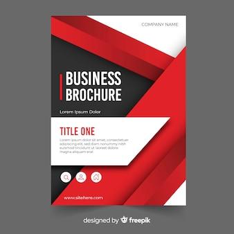 Modelo de panfleto de negócios com formas geométricas