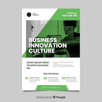 Modelo de panfleto de negócios com foto