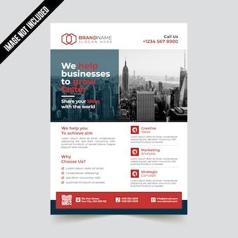 Modelo de panfleto de negócios corporativos modernos criativos
