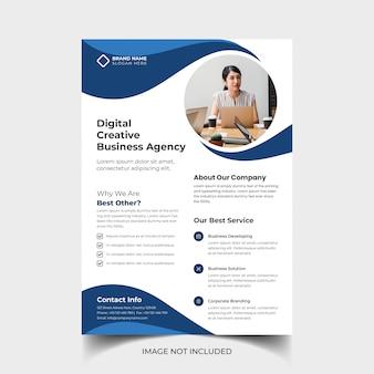 Modelo de panfleto de negócios criativos corporativos