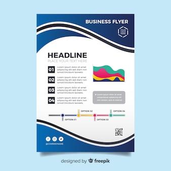 Modelo de panfleto de negócios de design plano