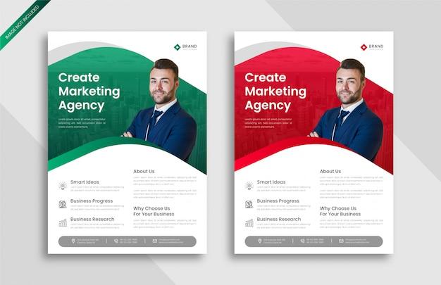 Modelo de panfleto de negócios de marketing digital criativo