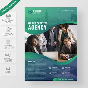 Modelo de panfleto de negócios de marketing