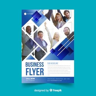 Modelo de panfleto de negócios de mosaico