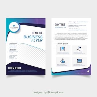 Modelo de panfleto de negócios elegante com design abstrato