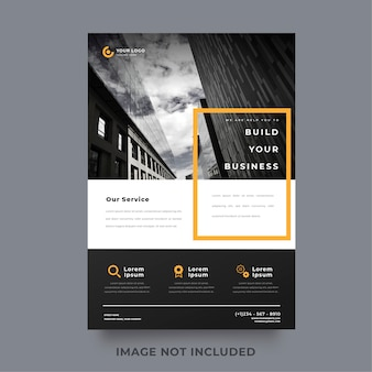 Modelo de panfleto de negócios elegante