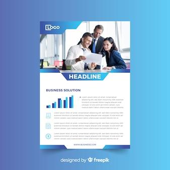 Modelo de panfleto de negócios em estilo abstrato
