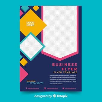 Modelo de panfleto de negócios em mosaico com espaço de cópia