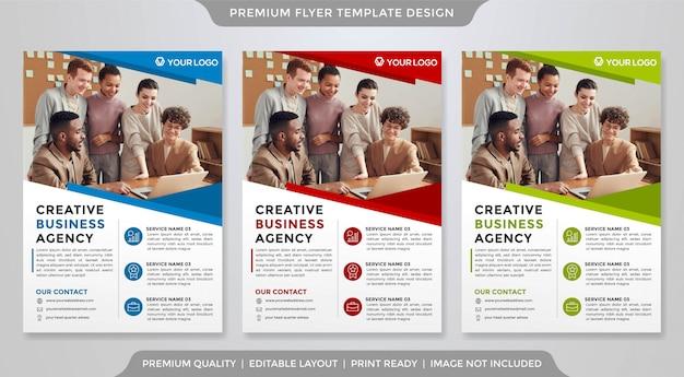 Modelo de panfleto de negócios estilo minimalista