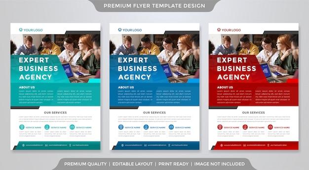 Modelo de panfleto de negócios estilo premium