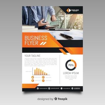 Modelo de panfleto de negócios fotográfico