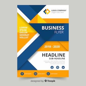 Modelo de panfleto de negócios moderno com design abstrato