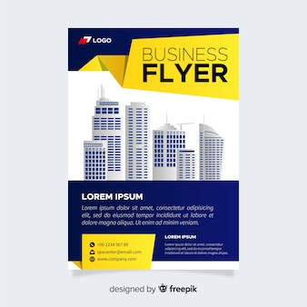 Modelo de panfleto de negócios moderno com design liso