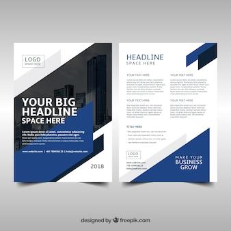 Modelo de panfleto de negócios moderno com estilo abstrato