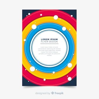 Modelo de panfleto de negócios moderno com formas abstratas