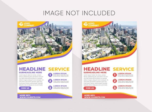 Modelo de panfleto de negócios moderno de cores