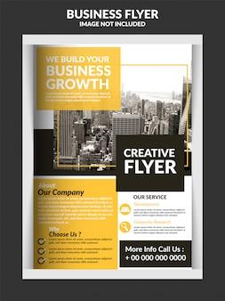 Modelo de panfleto de negócios modernos