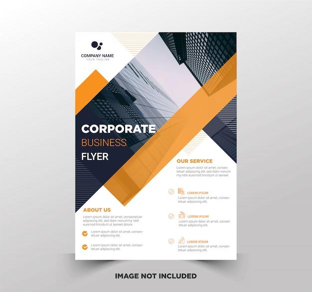 Modelo de panfleto de negócios premium