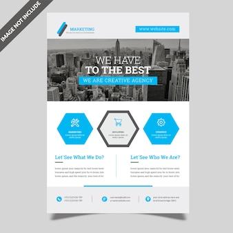 Modelo de panfleto de negócios simples