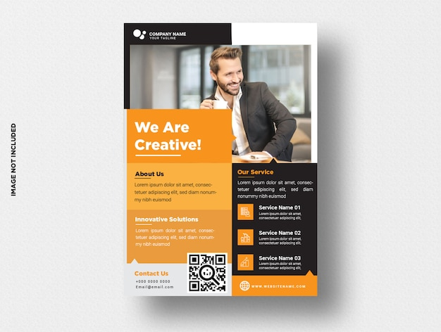 Modelo de panfleto de negócios.