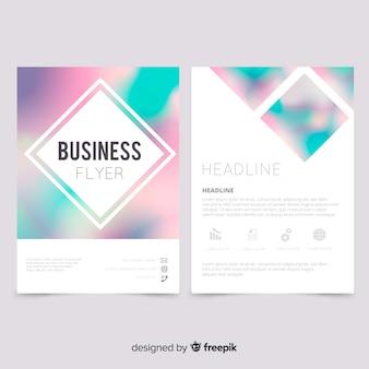 Modelo de panfleto de negócios