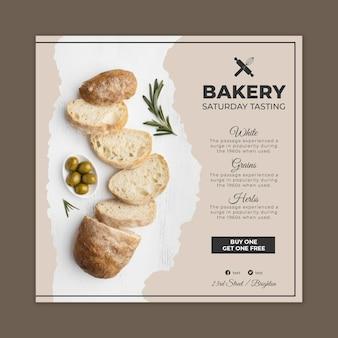 Modelo de panfleto de pão com foto