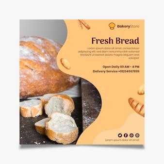 Modelo de panfleto de pão