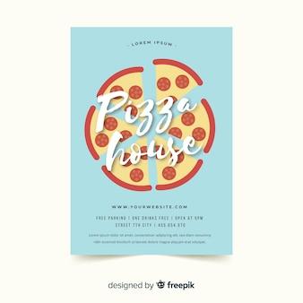 Modelo de panfleto de pizza simples