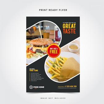 Modelo de panfleto de restaurante