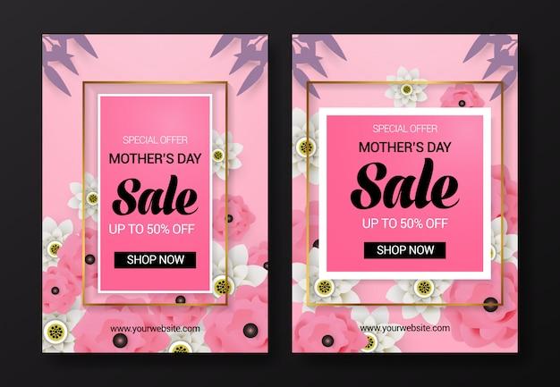 Modelo de panfleto de venda do dia da mãe