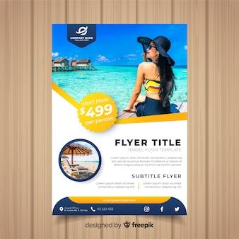 Modelo de panfleto de viagens
