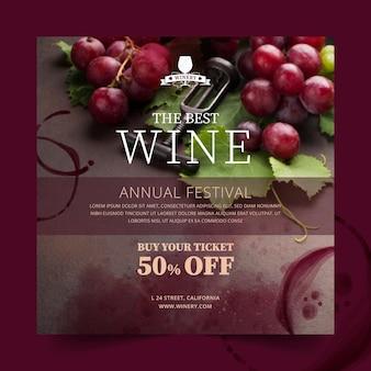 Modelo de panfleto de vinho