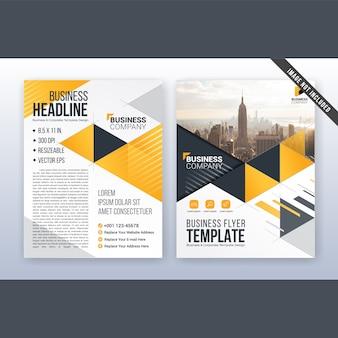 Modelo de panfleto e folheto de negócios moderno multiuso