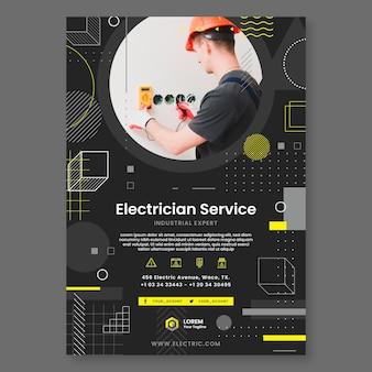 Modelo de panfleto eletricista escuro