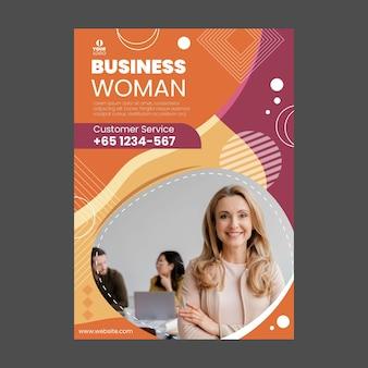 Modelo de panfleto empresária com foto