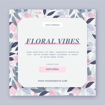 Modelo de panfleto floral